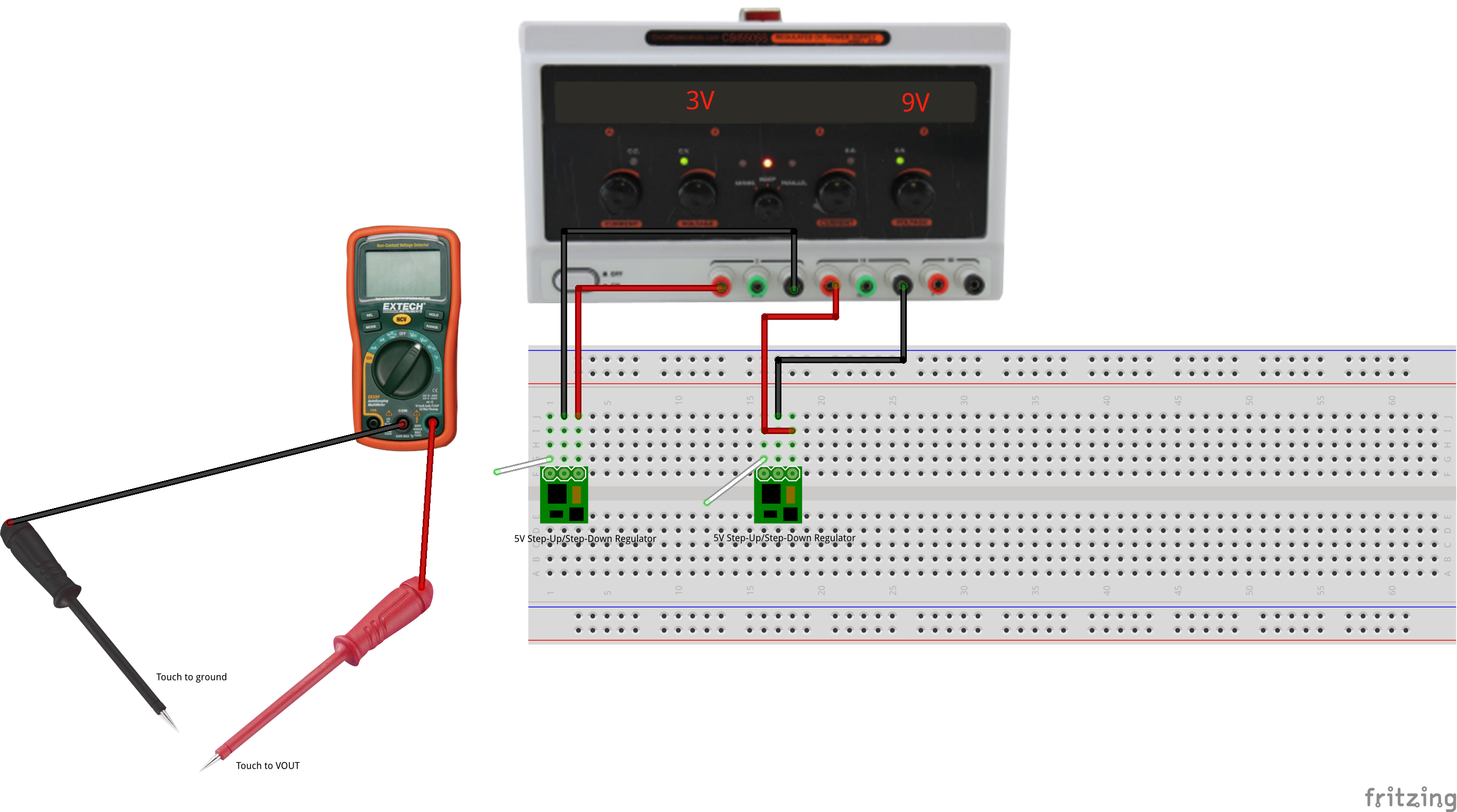 Exercise Voltage Regulation Down Switching Regulator On Step 5v Schematic Reference Datasheet For 7805