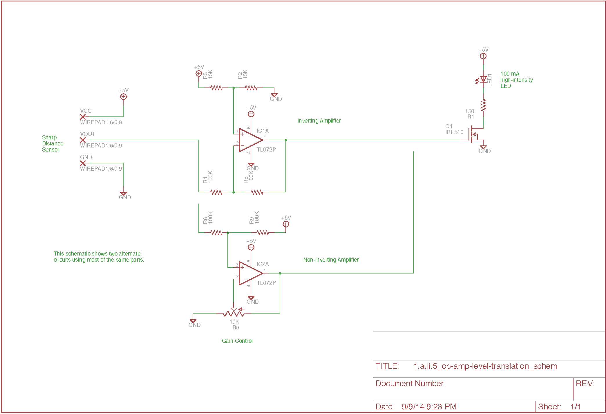 Exercise Op Amp Level Translation Circuit Is The Noninverting Amplifier A Other Files
